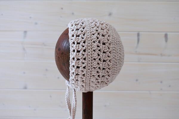 Crochet Audrey Baby Bonnet Pattern By WoolyWondersCrochet