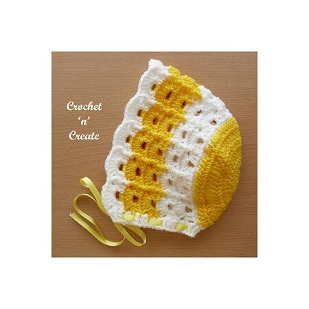 Crochet Baby Summer Bonnet By justcrochet1