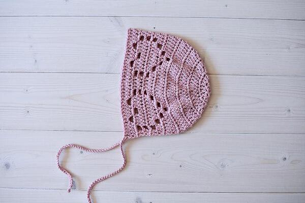 Crochet Emma Baby Bonnet By WoolyWondersCrochet