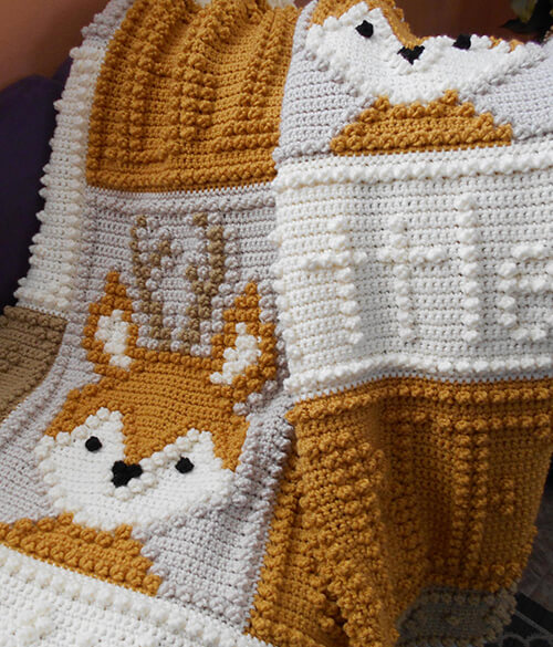 Deer Baby Blanket By ColorandShapeDesign