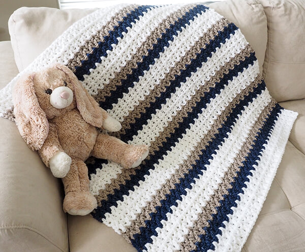 Done in a Day Baby Boy Blanket By Dabbles and Babbles
