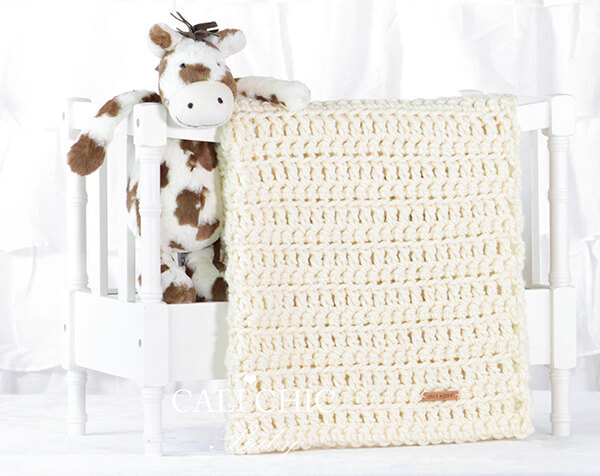 Easy Crochet Baby Boy Blanket By CaliChicBaby