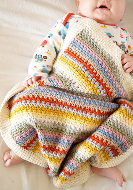 Edward Crochet Baby Boy Blanket By LittleDoolally