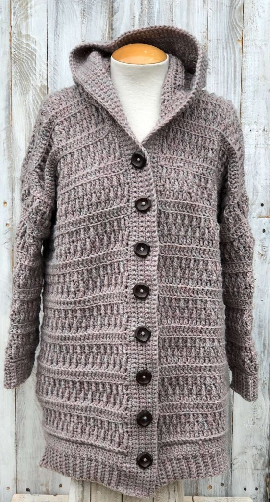 Endless Textured Hoodie Cardigan By EndlessCrochetCreat