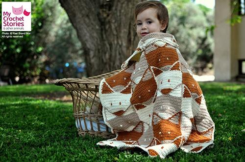 Fox Baby Blanket Pattern By MyCrochetStories