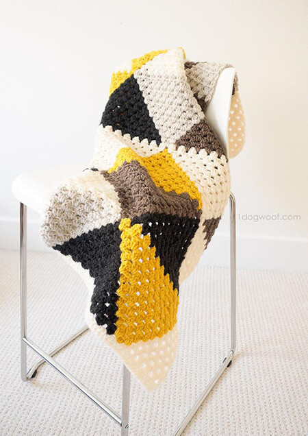 Love Triangles Crochet Baby Boy Blanket By 1dogwoof