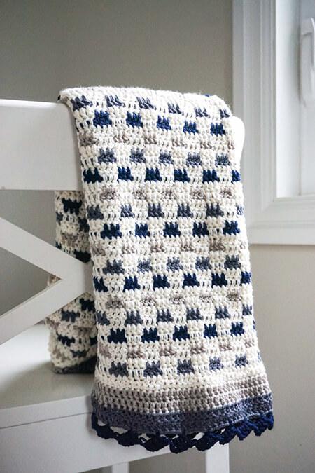 Modern Baby Blanket By babybirdpatterns