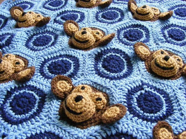 Monkey Business Blanket By TSBCrochetPatterns