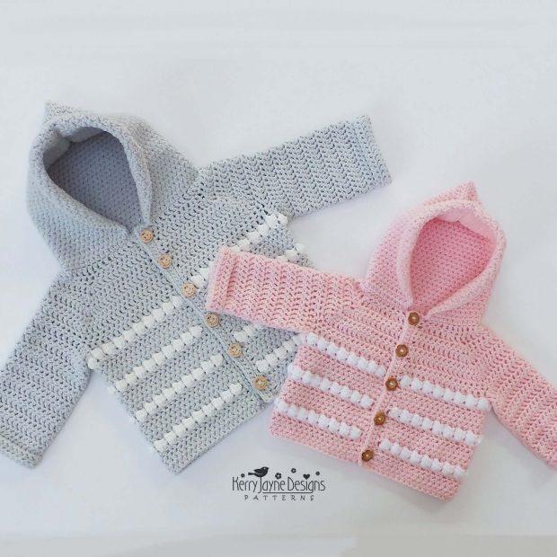 My First Crochet Hoodie Pattern By KerryJayneDesigns