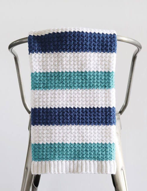 Nautical Crochet Baby Boy Blanket By Daisy Farm Crafts