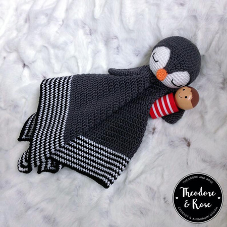 Po the Playful Penguin Blanket By TheodoreAndRose