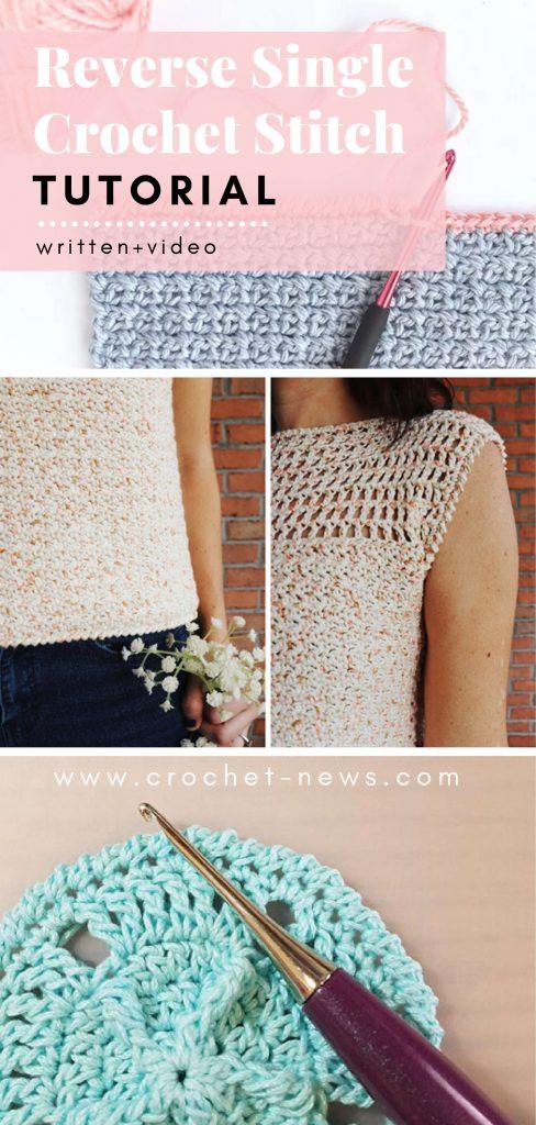 Reverse Single Crochet Stitch Tutorial | Written + Video