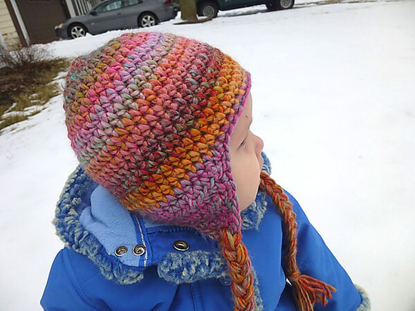 Seamless Earflap Hat By Lindsey Carr