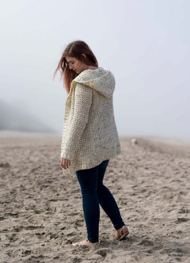 The Albatross Hoodie Cardigan By haileybailey