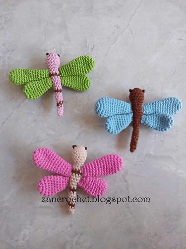 Amigurumi Dragonfly Crochet Pattern by Zan Merry