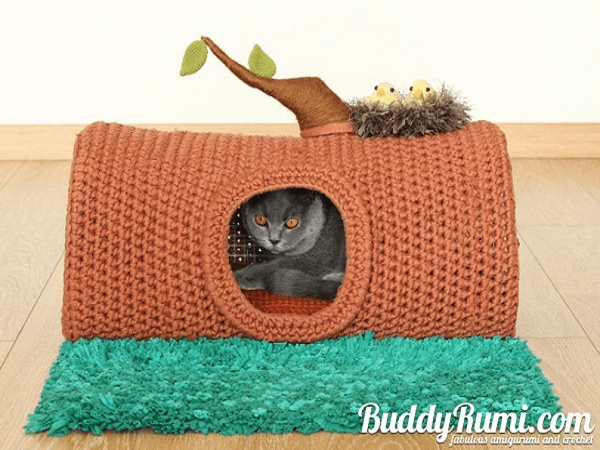 Cat House Crochet Pattern by Buddy Rumi