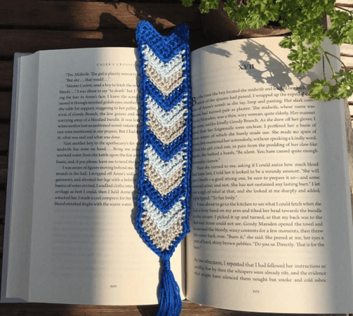 Chevron Bookmark Crochet Pattern by Rich Textures Crochet