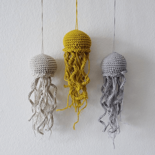 Crochet Amigurumi Jellyfish Decor Pattern by Un Peu Sauvage Shop