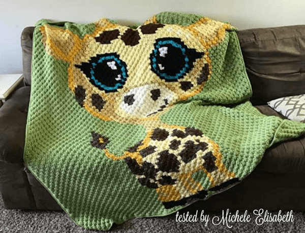 Crochet Baby Giraffe Afghan Pattern by Crochet Couch
