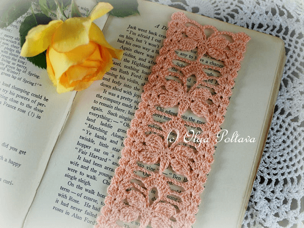 Crochet Butterflies Bookmark Pattern by Olga Poltava