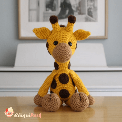 Crochet Giraffe Amigurumi Pattern by Chiqui Pork
