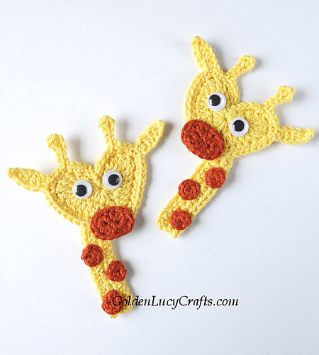 Crochet Giraffe Applique Pattern by Golden Lucy Crafts