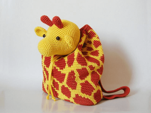 Crochet Giraffe Bag Pack Pattern by Chabe Patterns