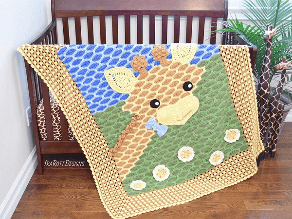Crochet Giraffe Blanket Pattern by Irarott Patterns
