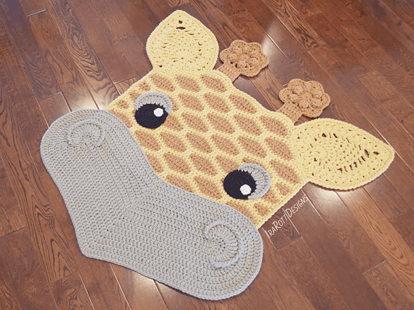 Crochet Giraffe Rug Pattern by Irarott Patterns