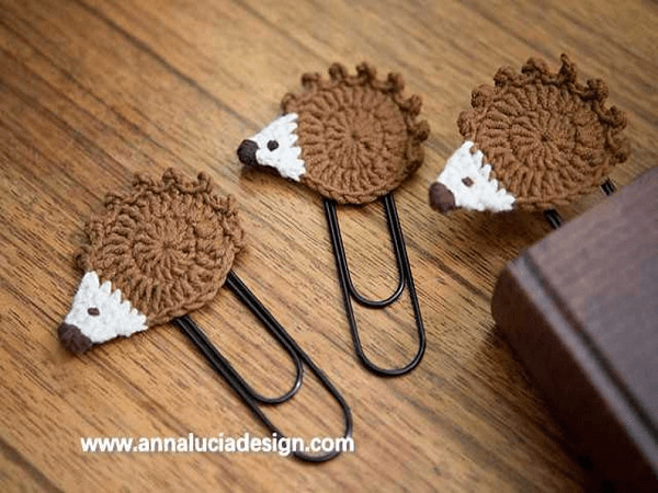 Crochet Hedgehog Bookmark Pattern by Emma Crochet Design 4 U