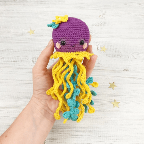 Crochet Jellyfish Amigurumi Pattern by Tikva Patterns