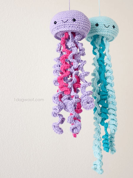 Crochet Jellyfish Pattern by One Dog Woof