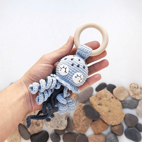 Crochet Jellyfish Rattle Pattern by House Sleeping Toys