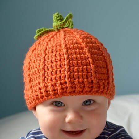 Crochet Pumpkin Hat Pattern by HanJan Crochet