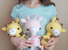 Cuddle-Sized Giraffe Amigurumi Pattern by Storyland Amis
