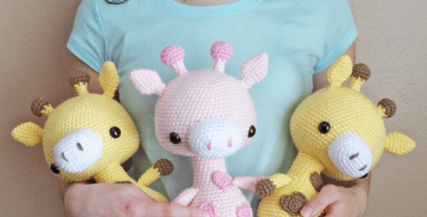 Cuddle-Sized Giraffe Amigurumi Pattern by Storyland Amis