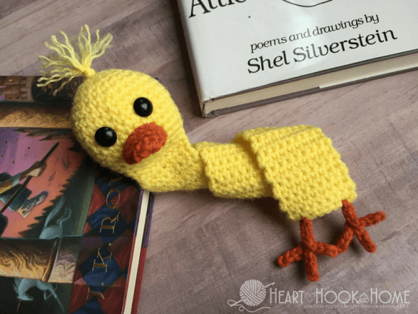 Duck Bookmark Crochet Pattern by Heart Hook Home