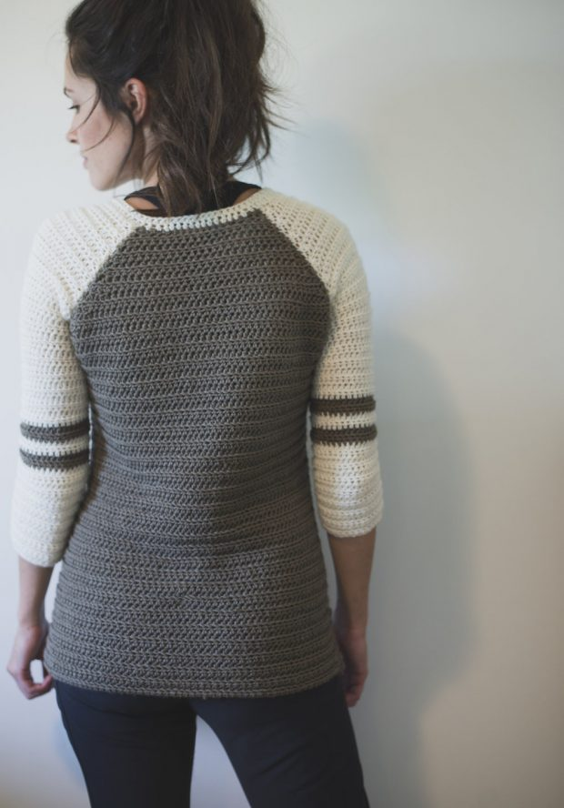 easy Crochet Raglan Sweater Pattern