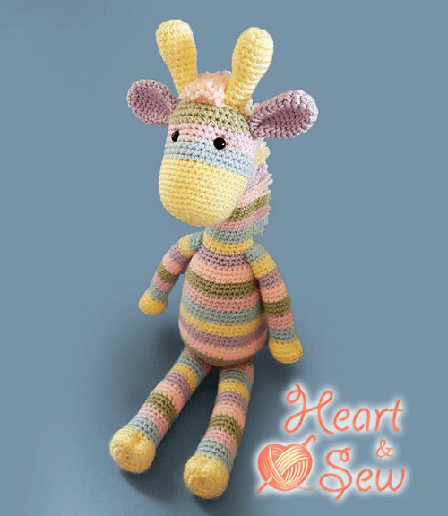 Free Crochet Giraffe Amigurumi Pattern by Heart And Sew