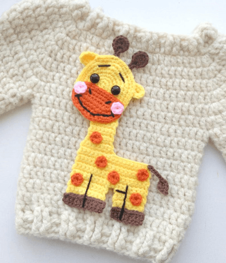 Giraffe Applique Crochet Pattern by Fancy Infancy Crochet