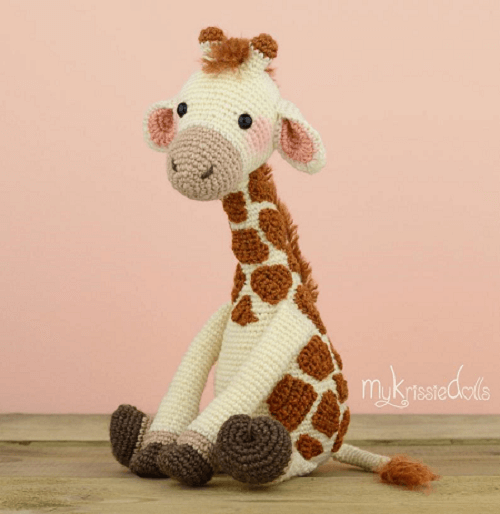 Crochet Giraffe Pattern by My Krissie Dolls