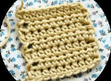half treble crochet stitch