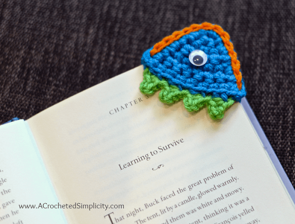 Happy Monster Crochet Bookmark Pattern by A Crocheted Simplicity