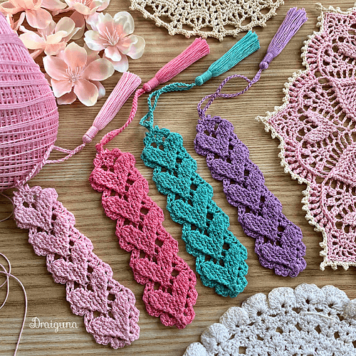 Higher Love Bookmark Crochet Pattern by Julia Hart