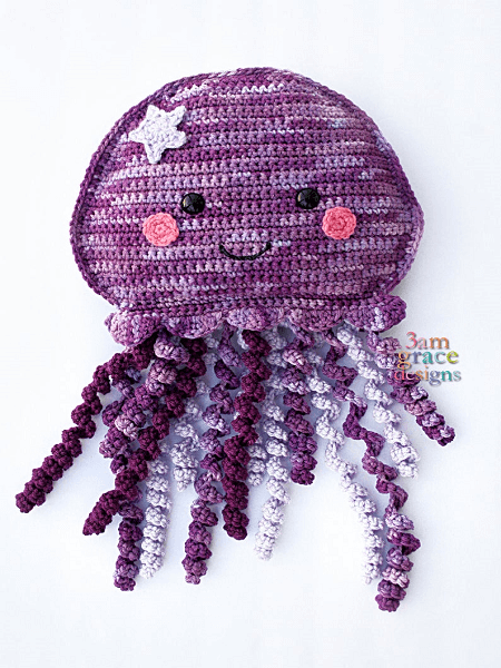 Jellyfish Amigurumi Crochet Pattern by 3 AM Grace Designs