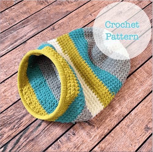 Kitty Cave Crochet Pattern by Roseworks Crochet