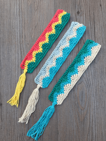 Making Waves Bookmark Crochet Pattern by Rich Textures Crochet