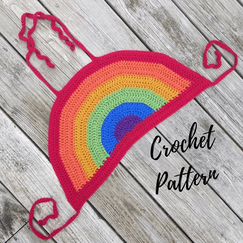 Rainbow Halter Top Crochet Pattern by Dice Knits