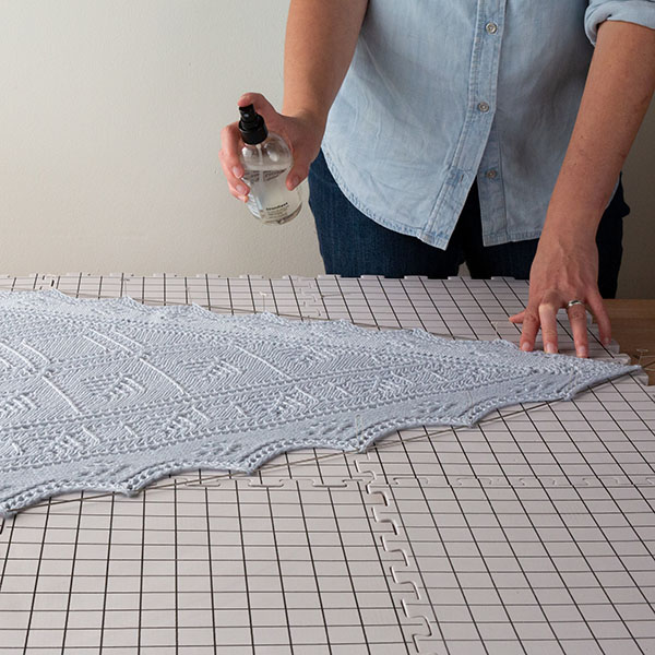 spray blocking for Crochet
