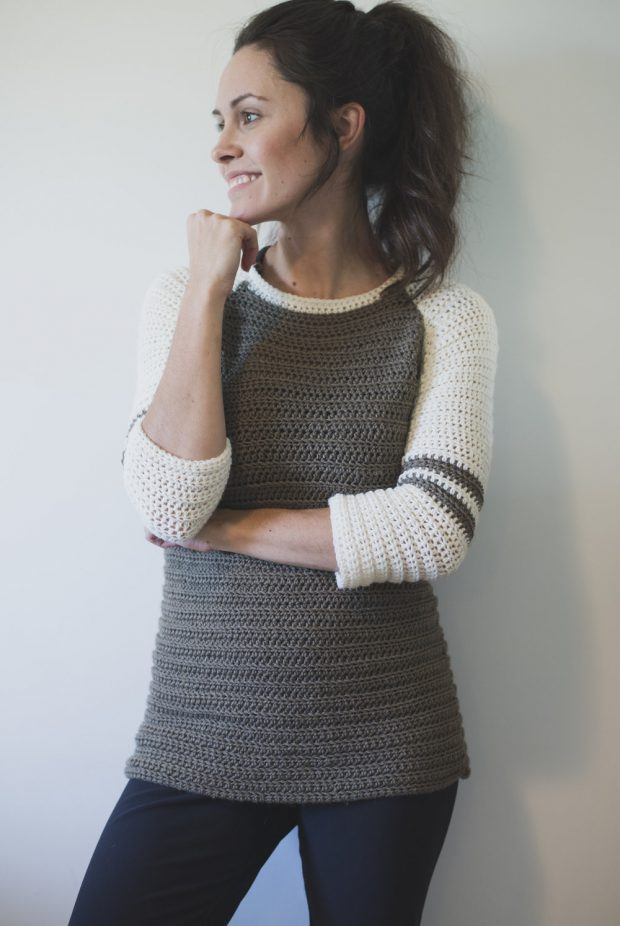 trendy Crochet Raglan Sweater Pattern